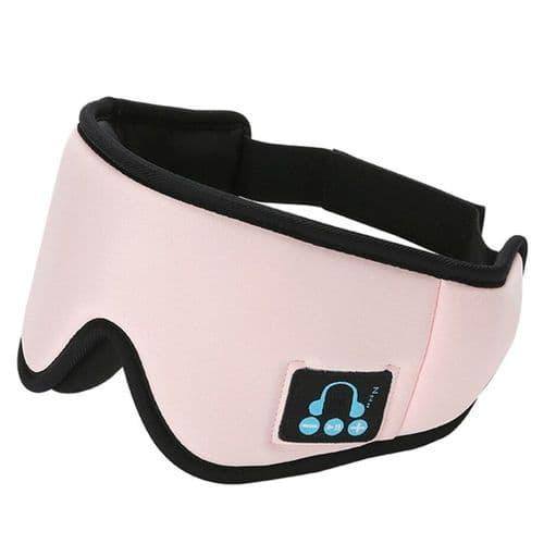 Bandeau Casque Audio De Sommeil Bluetooth V5 Masque Yeux Écouteur Micro Intégré